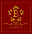 luxury logo design brand name vector image vector image