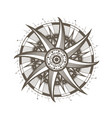 mandala sun symbol decorative round ornament vector image vector image