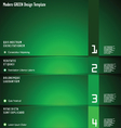 Modern GREEN Design Template vector image