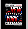 new york city slogan tee graphic typography vector image vector image