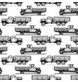 pattern with retro lorry vector image vector image