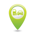 petrol station AND car GREEN map pointer vector image vector image