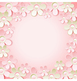 pink background with many flowers vector image vector image