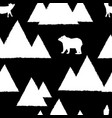 polar white bears and foxes with triangle vector image