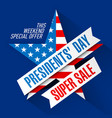 presidents day super sale banner design template vector image vector image