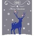 reindeer vector image