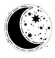 round magic composition moon and stars vector image