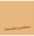 seamless pattern lines orange with text vector image vector image