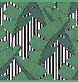 seamless pattern with banana leaves for design vector image vector image