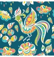 Seamless pattern with colorful birds and flowers vector image vector image