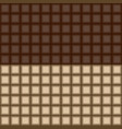 seamless pattern with dark and light chocolate vector image