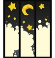 Set of banners with night vector image vector image