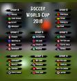 soccer world tournament 2018 vector image