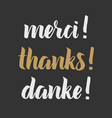 thank you phrase for social media vector image