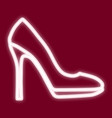 the image of women s shoes vector image vector image