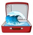 wave on the suitcase vector image