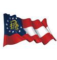 waving flag state georgia vector image vector image