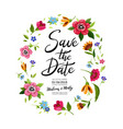 wedding invitation with calligraphy save the date vector image vector image