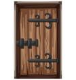 wooden door in medieval style vector image vector image