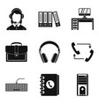 working premise icons set simple style vector image vector image