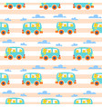 cat family in hipster van for vector image