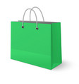 green paper classic shopping bag isolated vector image