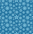 Christmas seamless pattern of different snowflakes vector image
