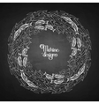 Ocean fish wreath vector image