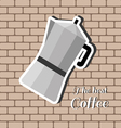 A jug of coffee with the best coffee inscription vector image vector image