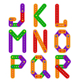 alphabet from constructor from J to R vector image vector image