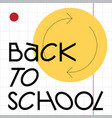 back to school web template vector image vector image