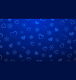 background of hearts and snowflakes vector image vector image