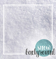 Background realistic snow and calligraphic vector image vector image
