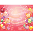 Background with balloons red vector image vector image