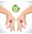 Ballet Hands vector image
