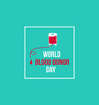 banner style world blood donor day vector image vector image