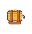 beer barrel oktoberfest icon line filled vector image