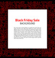 black friday paper template vector image vector image