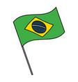 brazil flag symbol vector image vector image