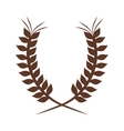 brown crown formed with two olive branch vector image vector image