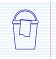 bucket and a rag sign navy line icon on vector image vector image