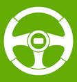 car steering wheel icon green vector image vector image