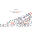 casino gambling linear landing page vector image