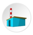 Chemical warehouse icon cartoon style vector image vector image