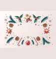 christmas background holly spruce jingle vector image vector image