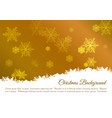 christmas background with snowflakes in gold color vector image vector image