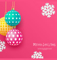 christmas bright multi-colored baubles vector image