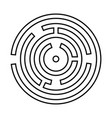 circle maze or labyrinth it is black icon vector image vector image