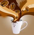coffee explosion vector image vector image