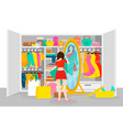 colorful fashion concept vector image